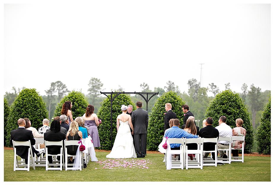 vineyard wedding ceremony white chairs