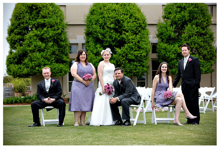 purple bridesmaid dresses outdoor wedding