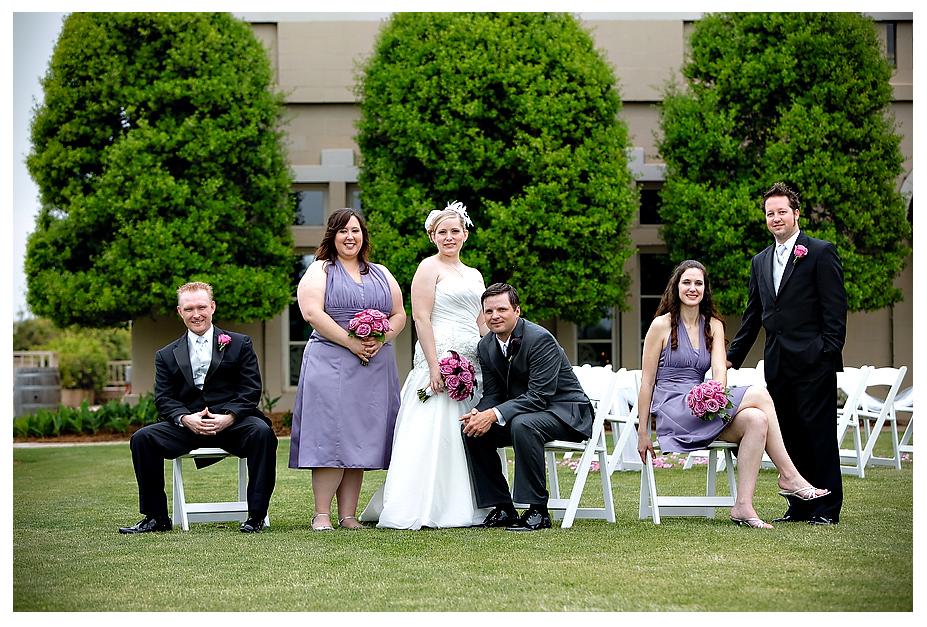 purple bridesmaid dresses outdoor wedding