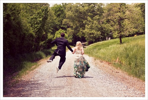 groom jumping
