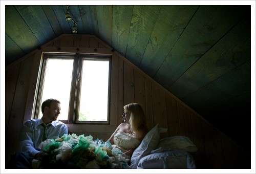 quiet moment during wedding