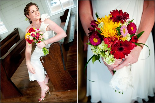 mixed wedding bouquet