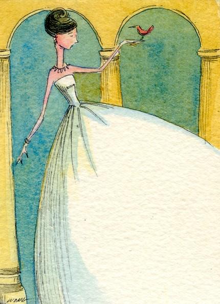 watercolor bride illustration