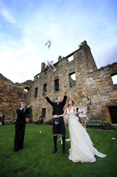 dove release scotland wedding