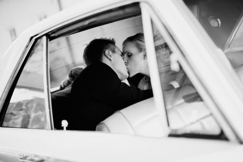 getaway car wedding