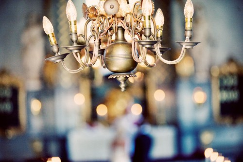 wedding chandelier reception