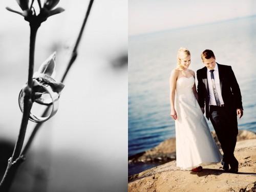 swedish wedding couple outdoors