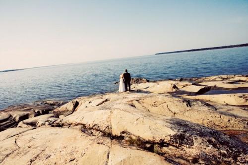wedding couple on peninsula