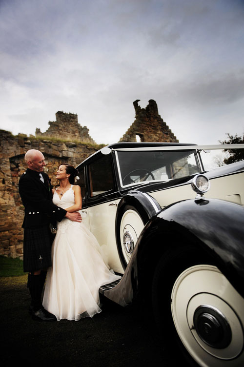 vintage getaway car in scotland