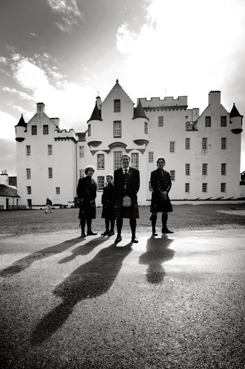 groomsmen blair castle in scotland