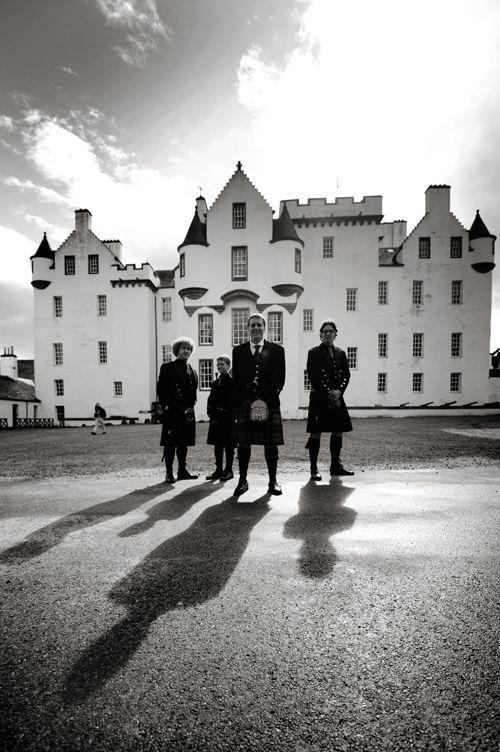 groomsmen blair castle in scotland