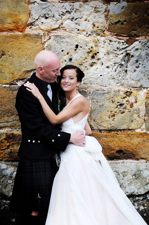 destination wedding in scottish castle