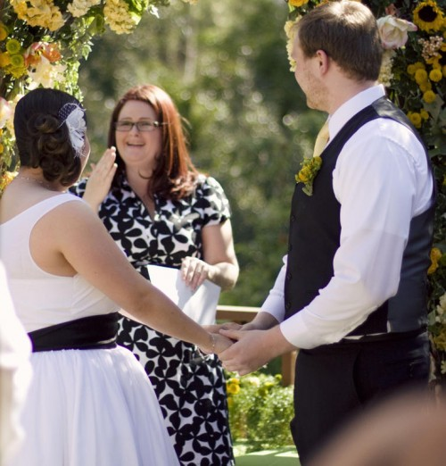 bride facing officiant