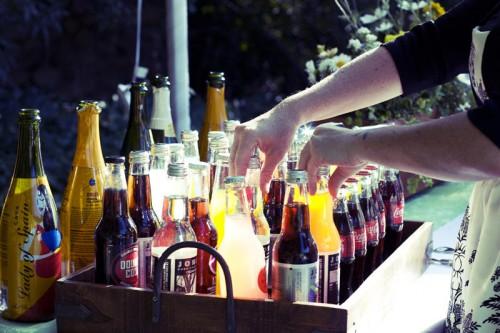 soda station at wedding