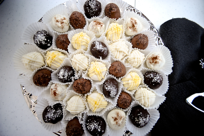 chocolate truffles for wedding