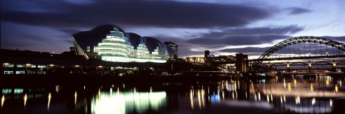 bradfordThe Sage Gateshead at night with bridges credit Alex Telfer