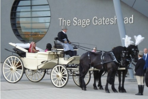 bradfordWedding Arrival at the Sage