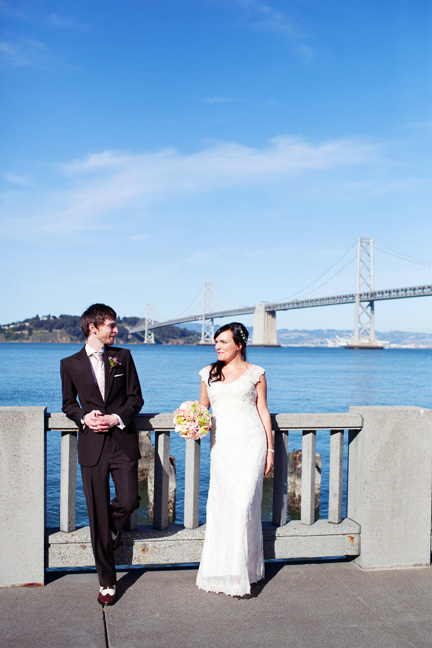 couple near golden gate bridge