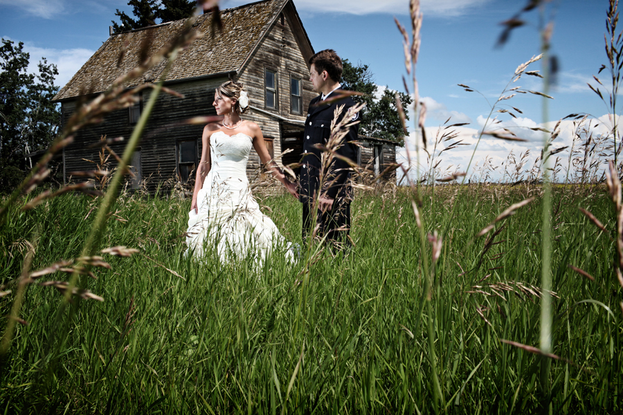 farmhouse wedding portrait