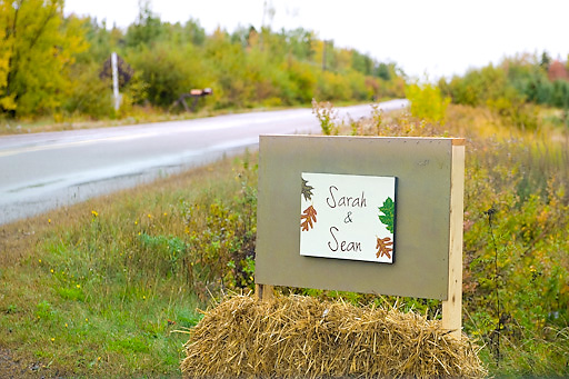 wedding sign for fall wedding