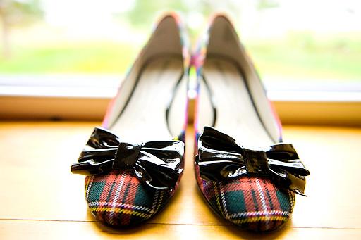 plaid wedding shoes