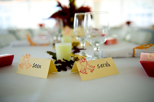 fall themed name card