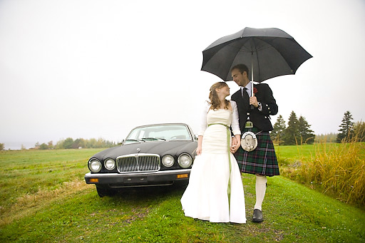nova scotia wedding in the rain