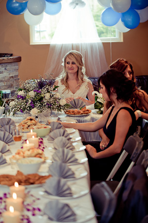bride at head table
