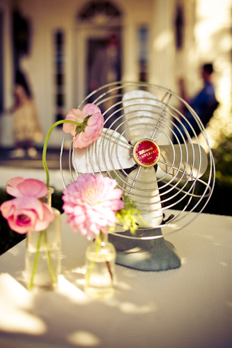 vintage fan decor