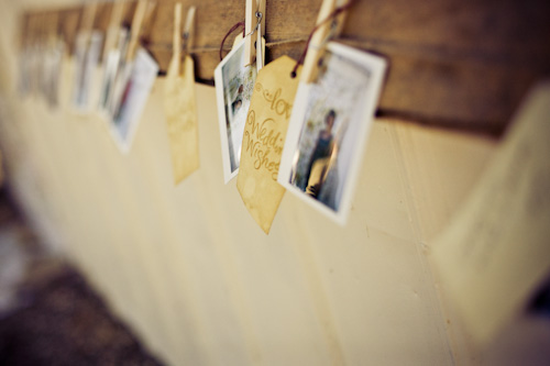 polaroid name cards