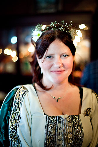 celtic bride with flower crown
