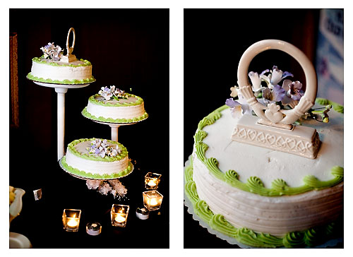 celtic themed wedding cake