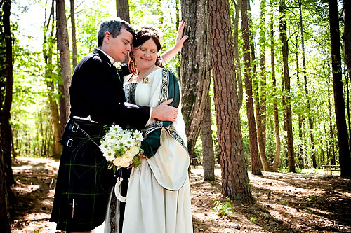 forest wedding portrait