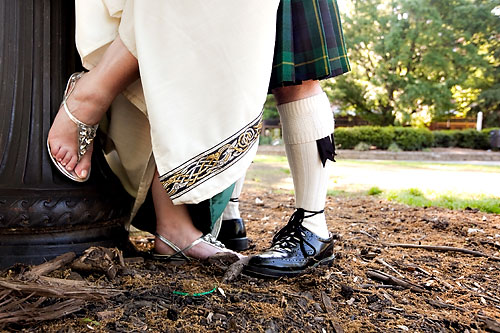celtic wedding attire
