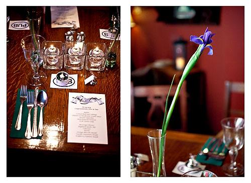 celtic wedding reception in an irish pub