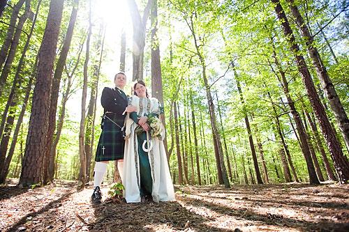Celtic forest wedding in North Carolina