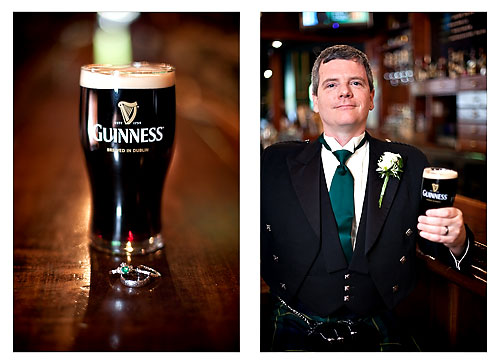 groom with guiness