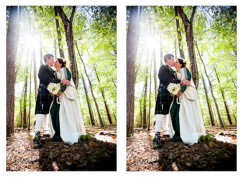 spring forest wedding