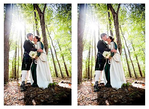 spring forest wedding