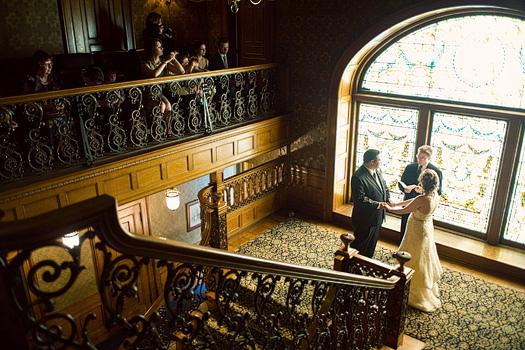 Wedding ceremony at the Whitney