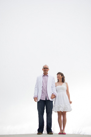 bride and groom elopement portrait
