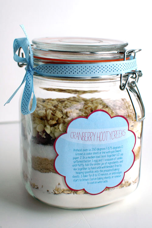 Recipe tags for cookie jars
