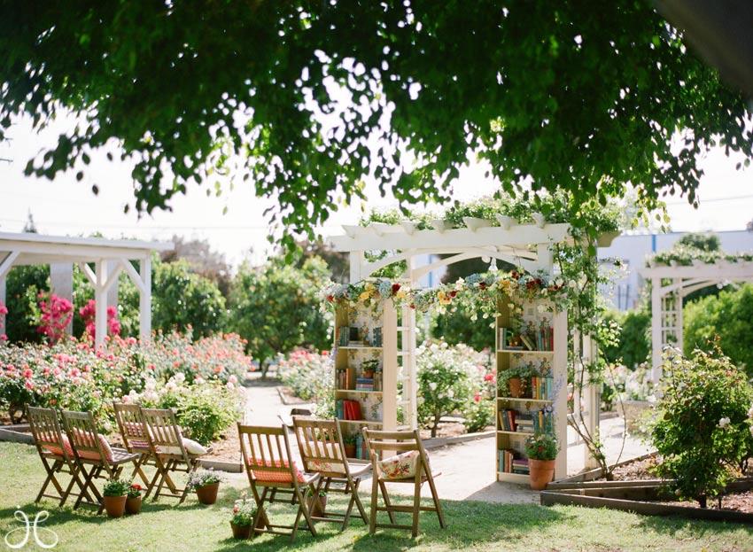 Library themed weddings Library garden grove