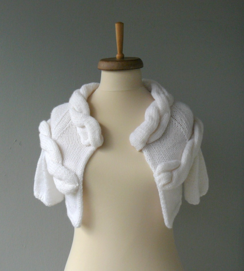 Winter wedding knit shrug