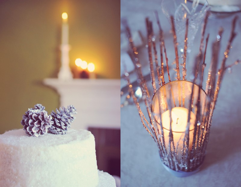 Diy winter wedding details for Winter themed wedding centerpieces