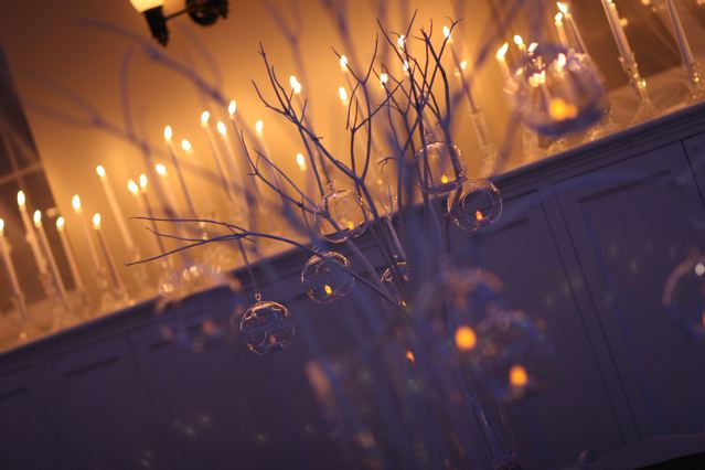 diy winter wedding candle centerpieces