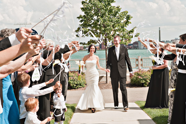 wedding recessional and ribbon wands