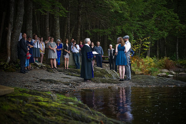 Nova Scotia forest wedding ceremony