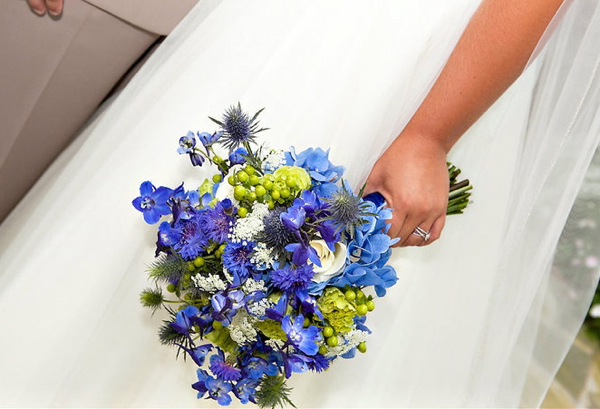 Blue Wedding Bouquet Flowers