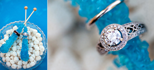 creative rock candy ring shot